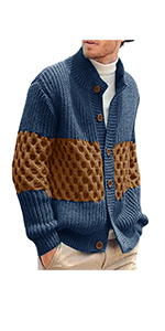 Pengfei Mens Cardigan Sweaters Open Front Knitted Long