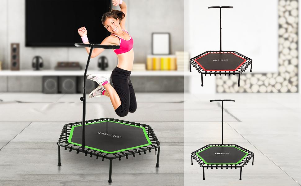 Handlauf Fitness Trampolin Sport Jumper Minitrampolin Faltbar Jumping 128 e 15