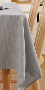 Deconovo Spillproof Striped Square Tablecloth