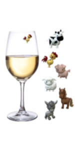 Magnetic Wine Glass Charms