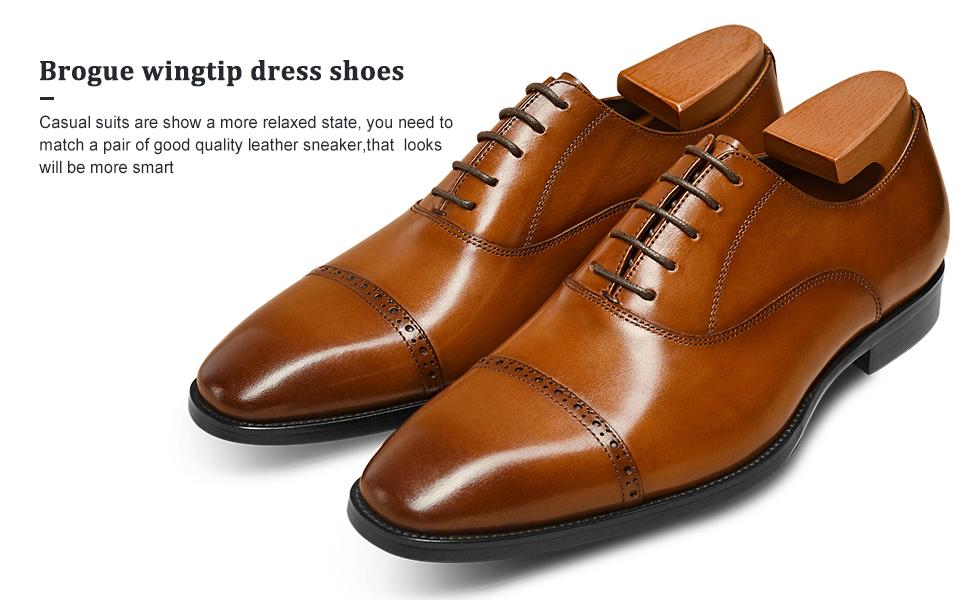 brogue men dress shoes