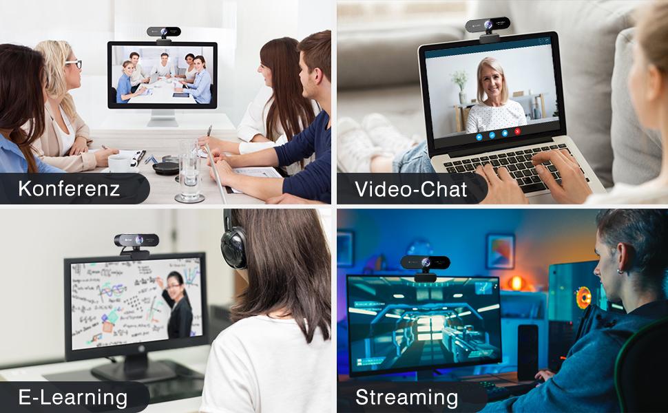 eMeet NOVA FULL HD 1080P/2K Webcam