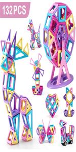 bloques de construcción magnéticos para niñas