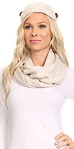 cable beanie hat newsboy solid color thick sweater warm winter ski snow casual 2 piece scarf chunky