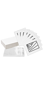 golden state art 8x10 for 5x7 double matting white black 32 pack kit backing board clear bag