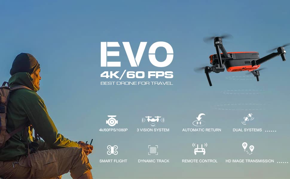 Autel EVO 4K Drone Camera 720P HD Video 60FPS Compact Helicopter Quadcopter for Adults- Banner