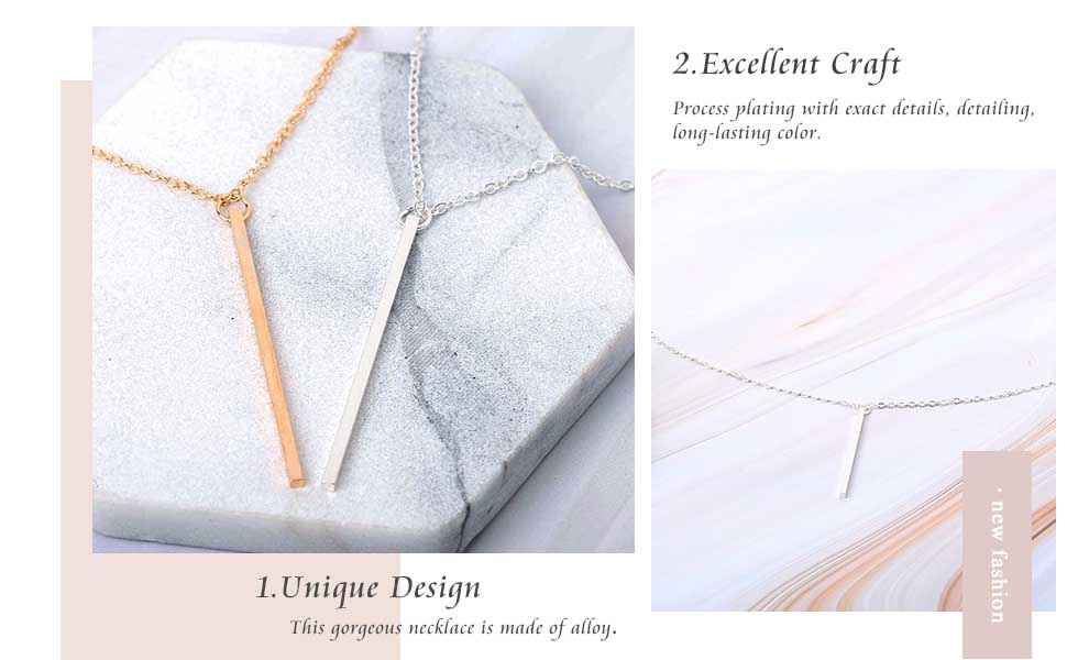 Fashion Long Necklace Dainty Simple Chain Necklaces Jewelry for Women and Girls