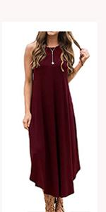 sleeveless summer dress long maxi dress beach dress sundress loose casual dress party dress