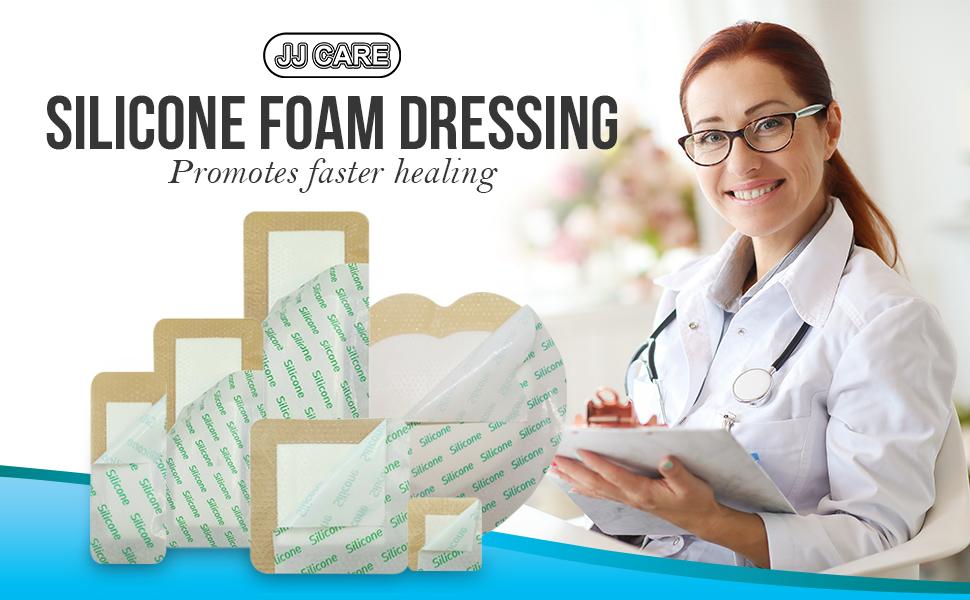 JJ CARE Silicone Foam Dressing