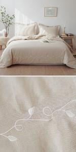 linen cotton duvet cover set