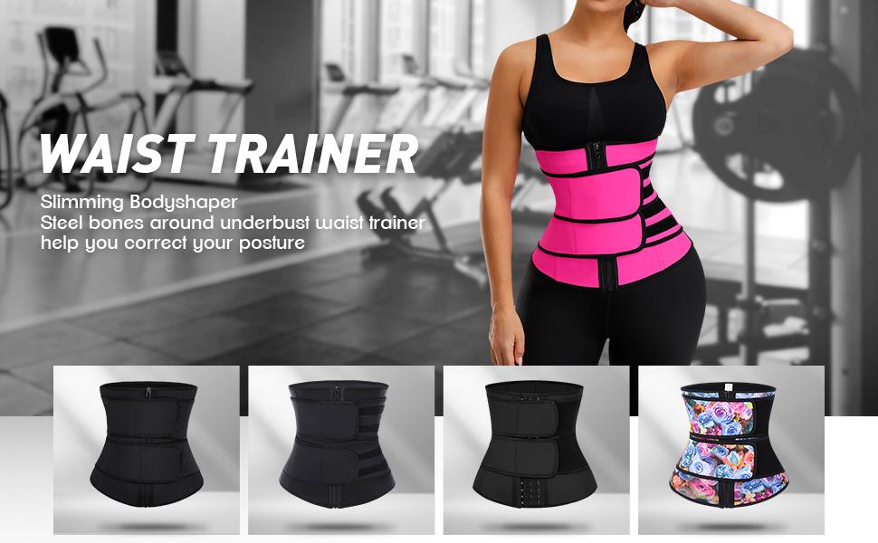 FEDNON Womens Workout Waist Trainer Cincher Corset Slimming Sauna Sweat Belt Underbust Sport Girdle Body Shaper