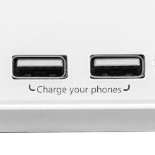 dual USB charging ports