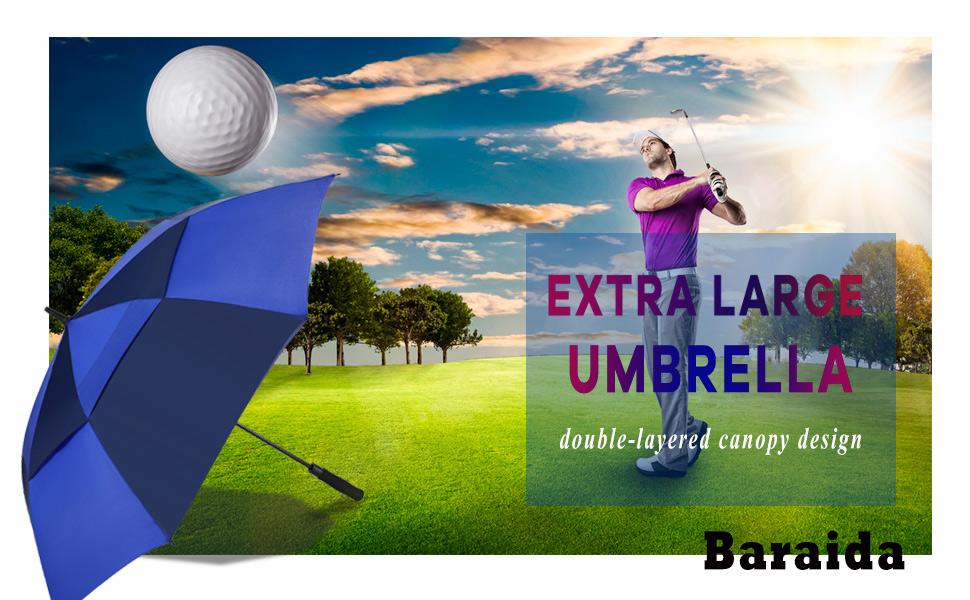 Extra Large Oversize Double Canopy Vented Umbrella