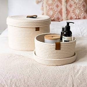 lidded baskets storage for bedroom waredrobe