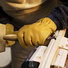 carpenter leather work gloves