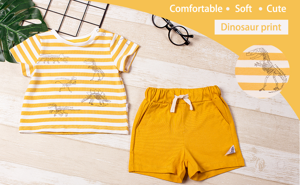 Short Sleeve Tops T-Shirt and Shorts COTTON FAIRY Baby Boy Summer Clothes Set
