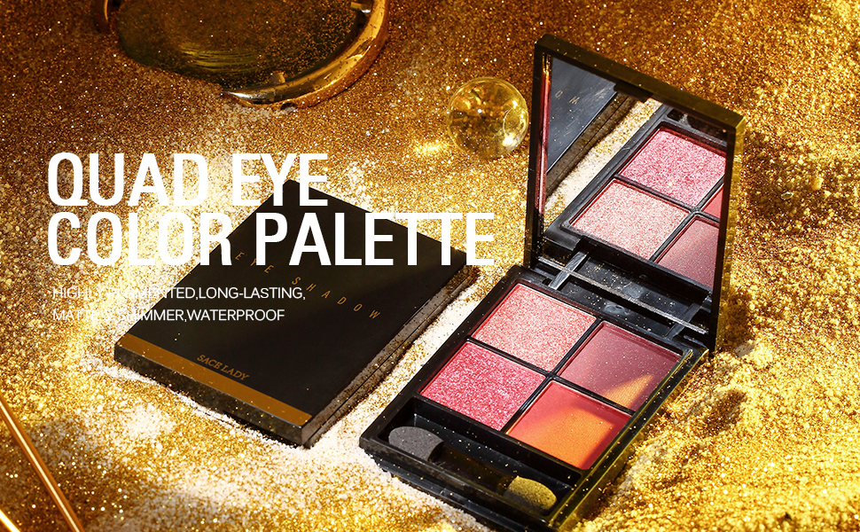 Eyeshadow Makeup Palette Matte and Shimmer High Pigmented Long Lasting Waterproof Glitter Eye Shadow
