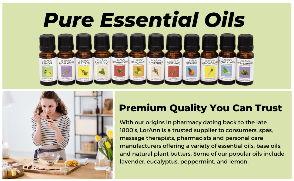 pure essential oils lavender eucalyptus peppermint lemon tea tree pharmacists massage aromatherapy