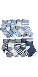 Adorel Calcetines Cortos Algodón para Bebés Niños Lote de 10