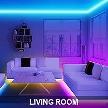 led strips lights for living room