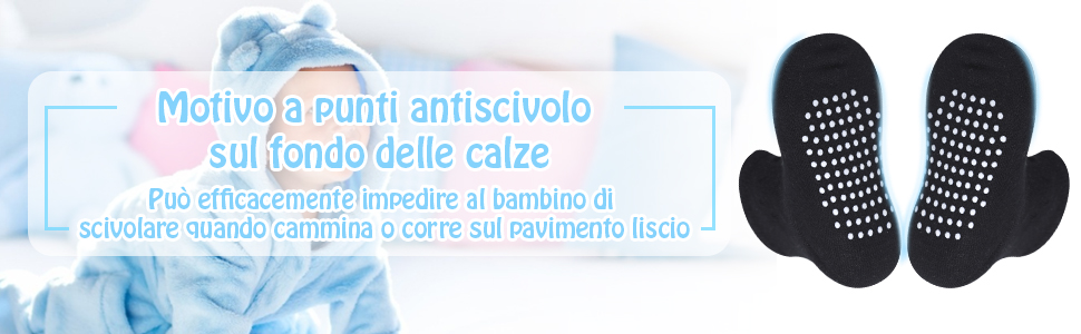 Lictin 12 Paia Calzini Antiscivolo Bambino Cotone