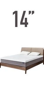 14'' memory foam queen mattress