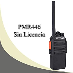 Retevis RT24 Walkie Talkie Recargable PMR446 sin Licencia
