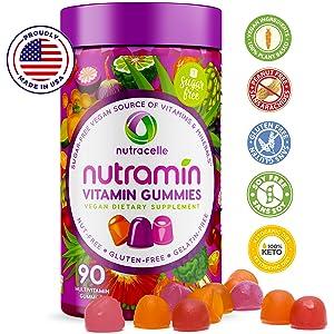 Nutramin Vitamin Gummies For Women USA Weight LOSS FDA Keto Natural Gluten Free Allergen Allergy