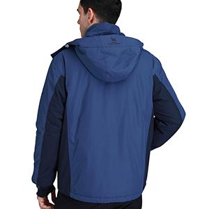 CAMEL CROWN Chaqueta Impermeable con Capucha para Hombre, A Prueba de Viento Chaqueta de Esquí con Forro Polar, Jacket Invierno para Montaña Cámping ...