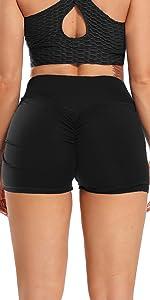 Basic Style Scrunch Booty Gym Shorts