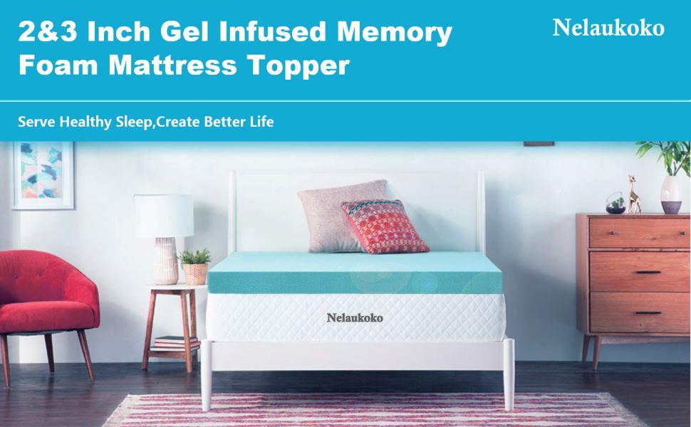 gel infused memory foam mattress topper