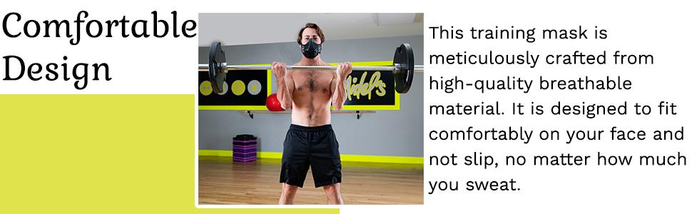 Low oxygen breathing mask for men & women.