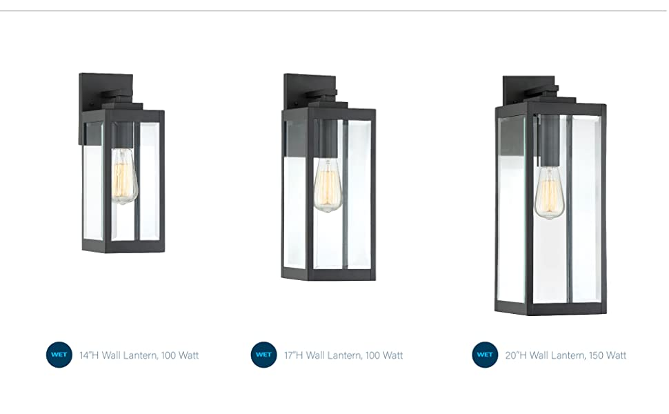 craftsman, contemporary, farmhouse or French country style, quoizel designer lighting, edison bulbs