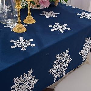stylish Christmas tablecloths.