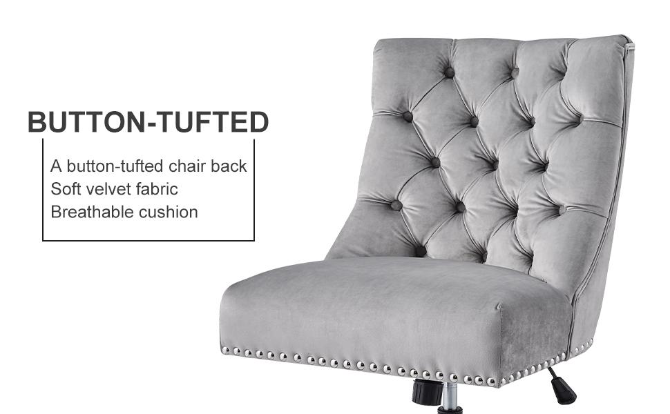 velvet office chair with wheels