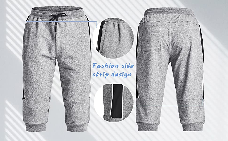 3/4 shorts cotton,running sweat pants,active pants for men,capri pants for men,shorts loose fit