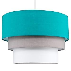 Turquoise hanglamp plafondlamp lampenkap