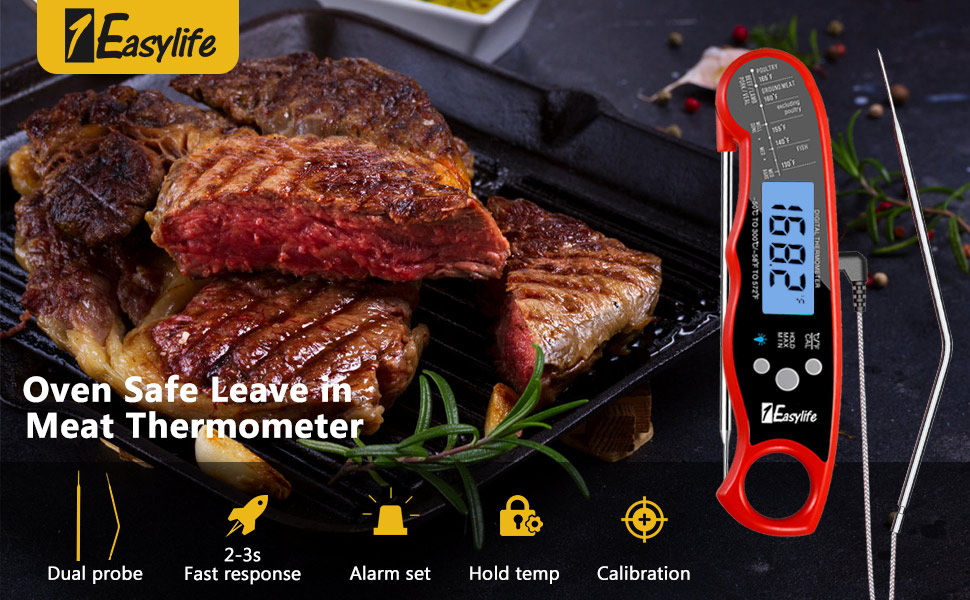 Oven Safe Leave in Meat Thermometer