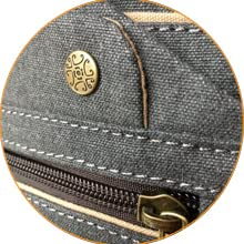 WRASCO logo on snap button placed on front flap of yoga mat bag