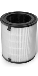 3-en-1 Pr/é-Filtre V/éritable Filtre Hepa LV-H13EU-RF Filtre /à Carbone Activ/é /à Haute Efficacit/é Levoit LV-H13EU Filtre de Remplacement