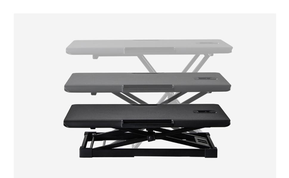 Height Adjustable Standing Desk Converter Computer Working Study Table