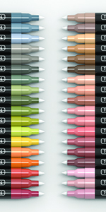 36 Earth And Skin Colors Extra-Fine Acrylic Paint Pens