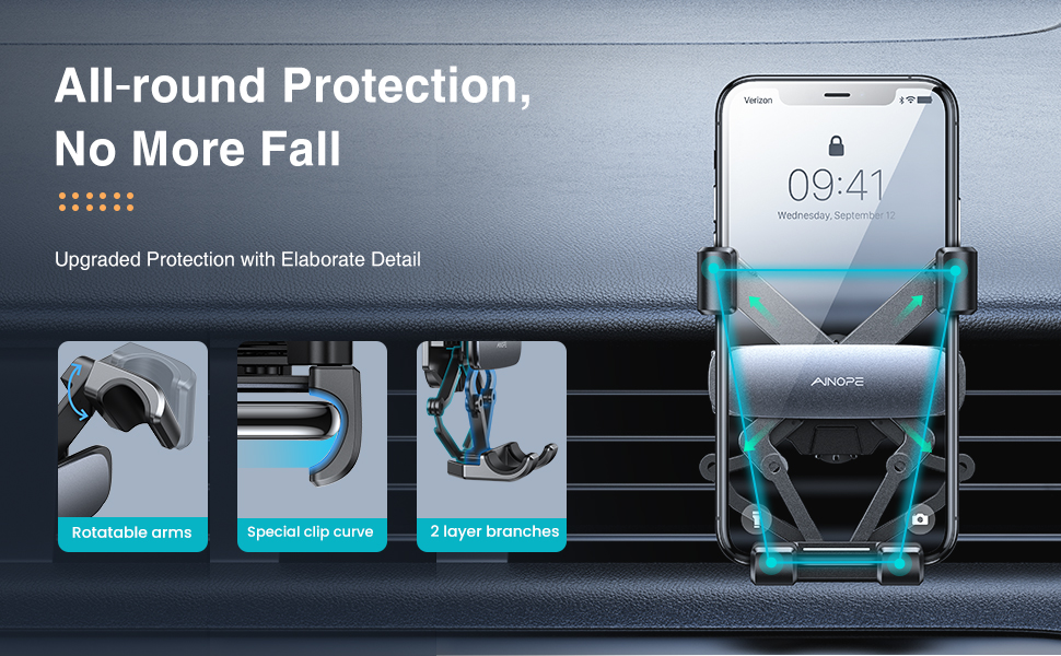 auto lock phone holder for car