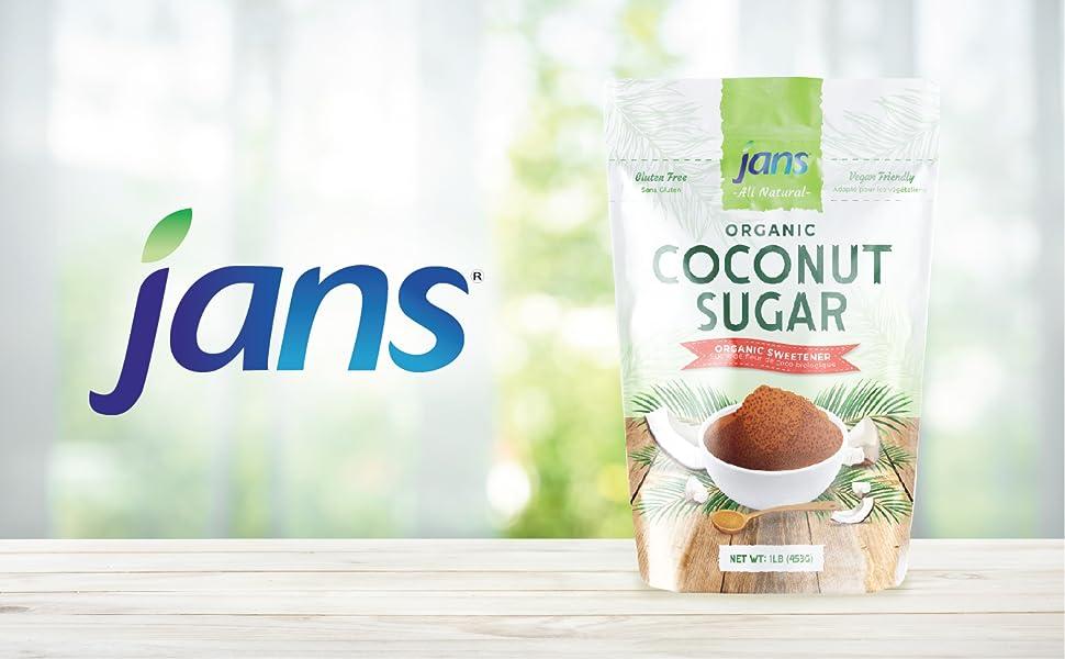 Jans All Natural Organic Coconut Sugar