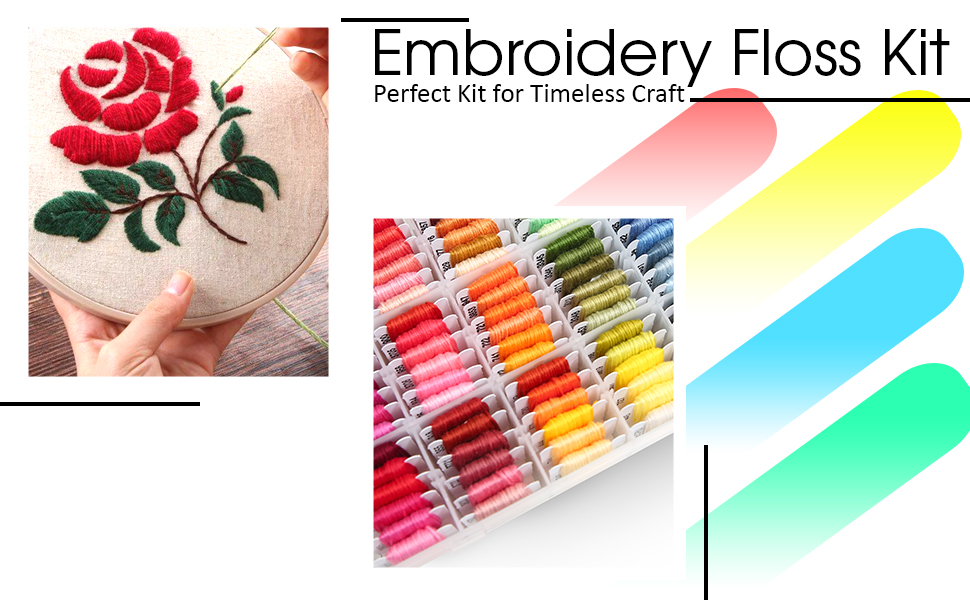 All your embroidery floss at your fingertips.