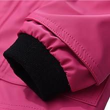 kids waterproof raincoat elastic cuff