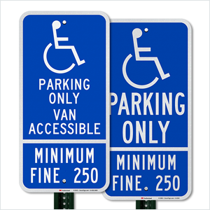Reserved and Handicapped Parking Signs, Heavy-duty Aluminum Sign, California-compliant
