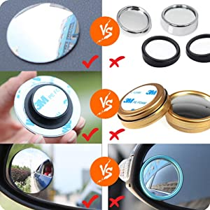 Blind Spot Mirrors For Cars 360 ° Rotatable Wide Angle Convex Rear View Mirror For Universal Cars