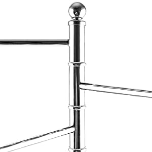 40-Inch Freestanding Metal Bathroom Towel/Kitchen Towel Rack Stand with 3 Swivel Arms