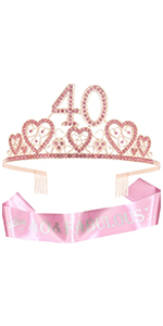 40th Birthday Pink Tiara for women